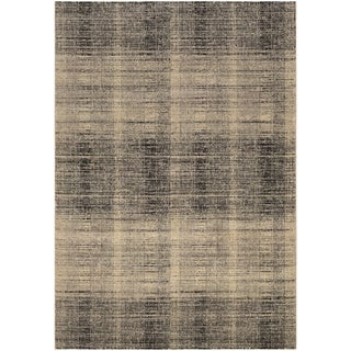 Power-Loomed Couristan Easton Suffolk/Black-Grey Rug (5'3 x 7'6)