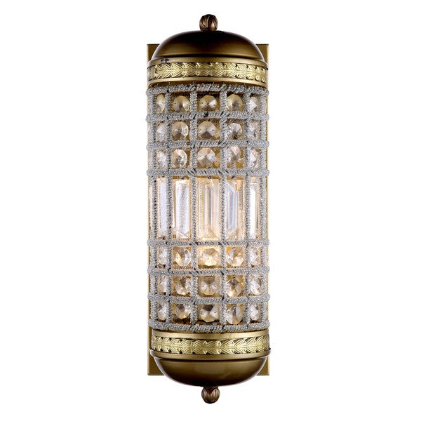 Bombay Winsted Collection Crystal Trellis Wall Sconce