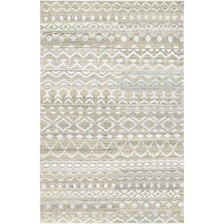 Hand-Knotted Couristan Casbah Purnia/Natural-Cream Undyed Wool Rug (8' x 11')