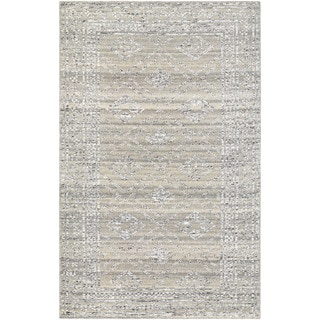 Hand-Knotted Couristan Casbah Sirsi/Grey-Natural Undyed Wool Rug (8' x 11')