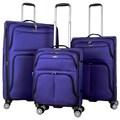 Gabbiano Tahiti 3-piece Expandable Softside 8-wheel Spinner Luggage Set