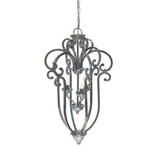 Urban Designs Contemporary Satin Nickel Finish Chandelier
