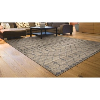 Hand-Knotted Couristan Casbah Akola/Natural-Grey Undyed Wool Rug (5'6 x 8')