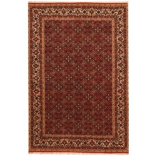 Herat Oriental Persian Hand-knotted Bidjar Red/ Ivory Wool Rug (4'2 x 6'1)
