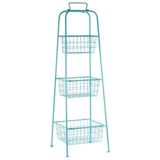 3-tier Blue Metal Mesh Storage Stand