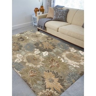 Hand-Knotted Delilah Soft Camel Handspun New Zealand Wool and Art Silk Rug (9'x12')