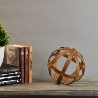 Bamboo Orb Dyson Sphere Design (5 Circles) MD Natural Wood Finish Brown