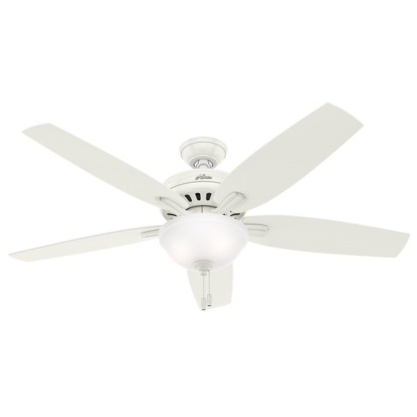 Hunter Fan Newsome Collection 56-inch Fresh White with 5 Fresh White/ Light Oak Reversible Blades 17993805