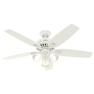 Hunter Fan Newsome Collection 52-inch Fresh White with 5 Fresh White/ Light Oak Reversible Blades