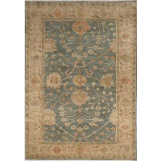 ecarpetgallery Hand-Knotted Royal Ushak Green Wool Rug (6'1 x 9'1)