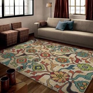 "Carolina Weavers Bright Color Geo Dharan Multi Area Rug (6'7"" x 9'8"")"
