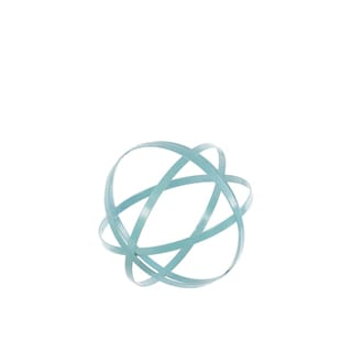 Small Cyan Metal Sphere Decor