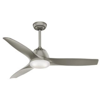 Casablanca Fan Wisp 52-inch Pewter with 3 Pewter Blades - Grey