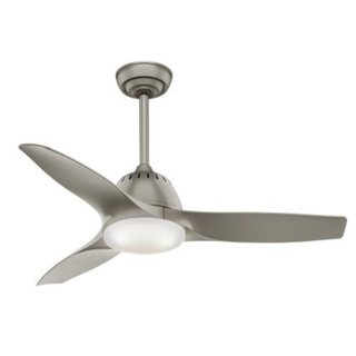 Casablanca Fan Wisp 44-inch Pewter with 3 Pewter Blades - Grey