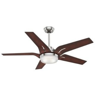 Casablanca Fan Corrence 56-inch Brushed Nickel with 5 Coffee Beech Blades - Silver 17994111