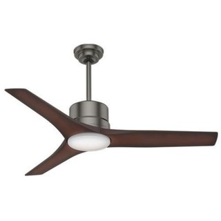 Casablanca Fan Piston 52-inch Brushed Slate with 3 Beech Blades 17994166