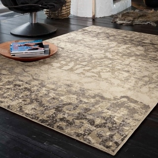 "Carolina Weavers Soft Scroll Iron Bridge Ivory Area Rug (7'10"" x 10'10"")"