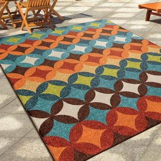 "Carolina Weavers Indoor/Outdoor Geo Bancroft Multi Area Rug (5'2"" x 7'6"")"