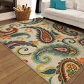 Carolina Weavers Indoor/Outdoor Paisley Pampano Multi Area Rug  (5'2