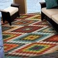 Carolina Weavers Indoor/Outdoor Aztec Flagstaff Multi Area Rug  (5'2