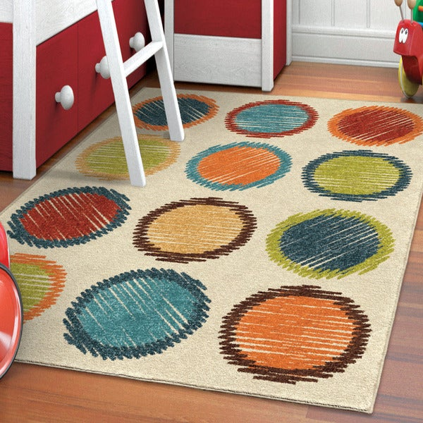 "Carolina Weavers Indoor/Outdoor Kids Gum Drops Multi Area Rug (5'2"" x 7'6"")"