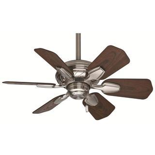 Casablanca Fan Wailea 31-inch Brushed Nickel (Damp Listed) w/6 Dark Walnut Blades