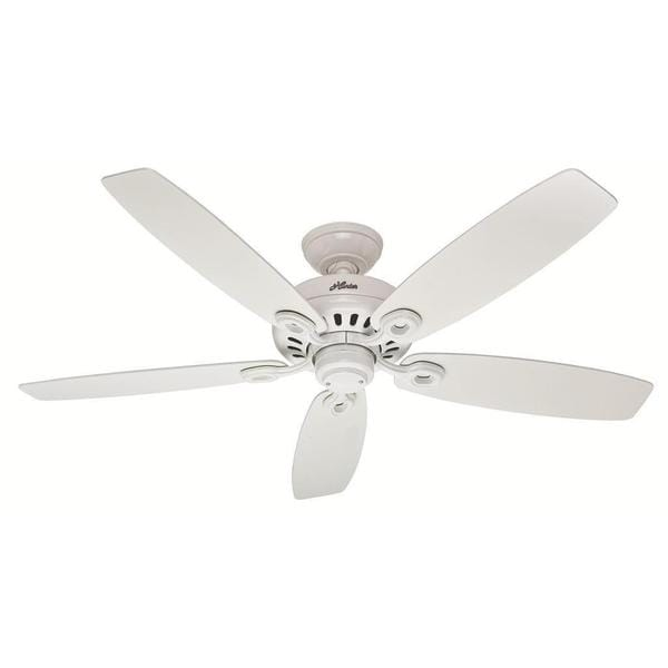 Hunter Fan Markham 52-inch Snow White with 5 Snow White Blades 17994834