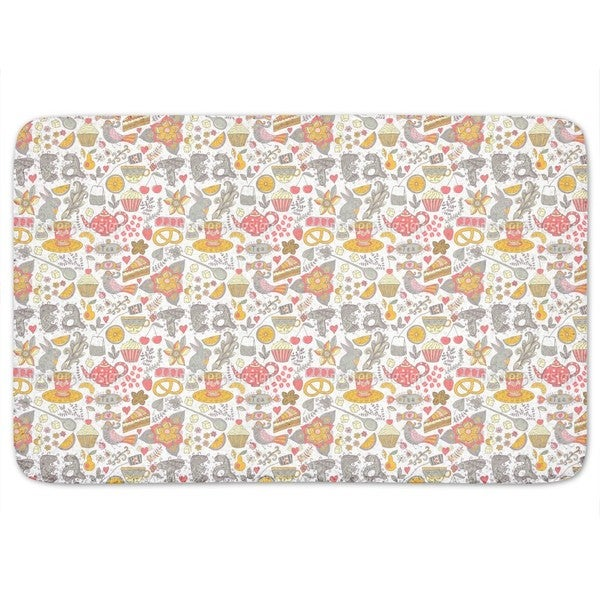 Funny Tea Party In Wonderland Bath Mat
