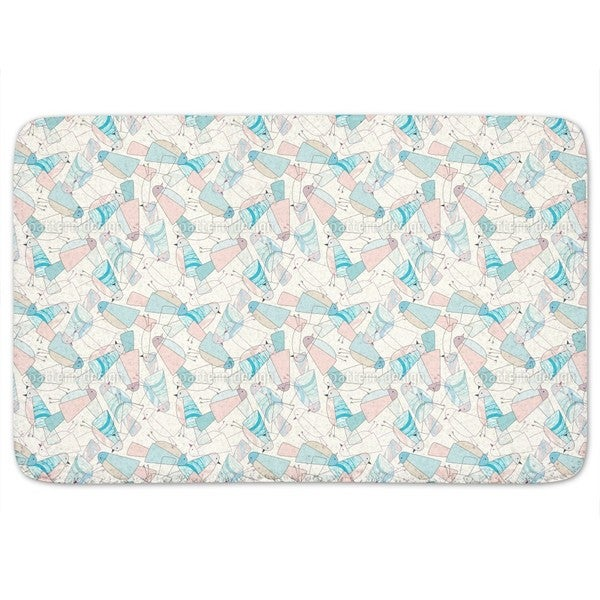 Gathering Of The Birdcommunity Bath Mat
