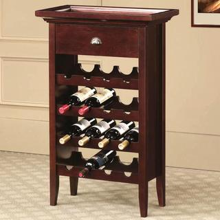 Shendoah Classic 16 Bottle Wine Rack with Serving Tray Top