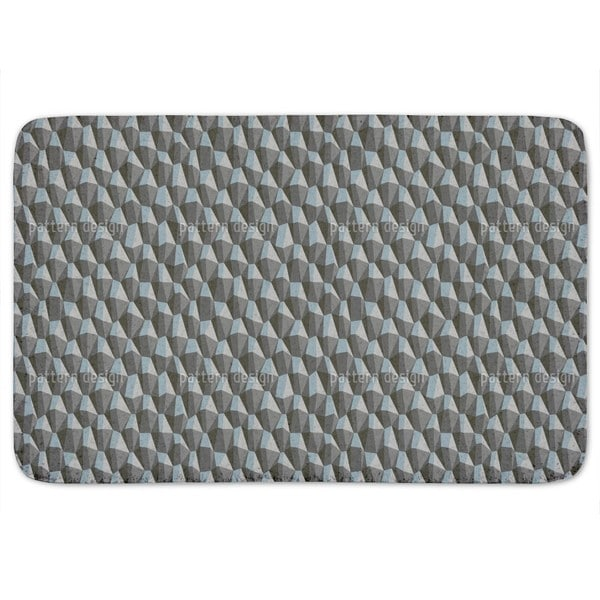 Geometric Steep Uphill Bath Mat