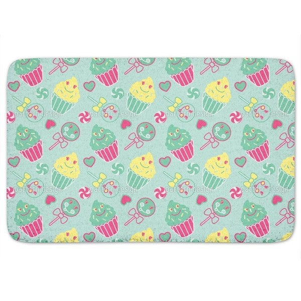 Happy Desserts Mint Bath Mat