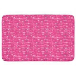 Heart Lantern Pink Bath Mat