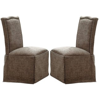 Sanctuary Classic Design Skirted Chair with Nail Head Trim (Set of 2)