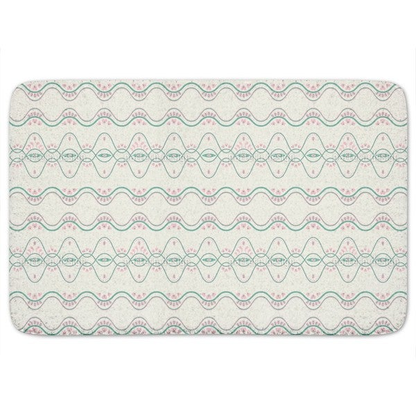 Folkloria Cream Bath Mat
