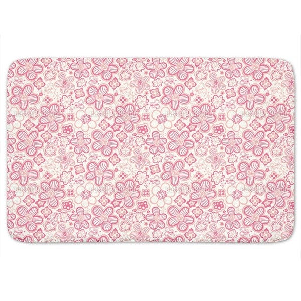 Butterflies Love Candy Flowers Bath Mat 17995457
