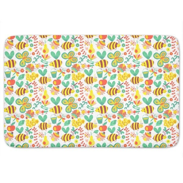 Busy Honey Bees Bath Mat