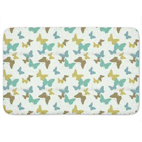 Time Of The Butterflies Green Bath Mat