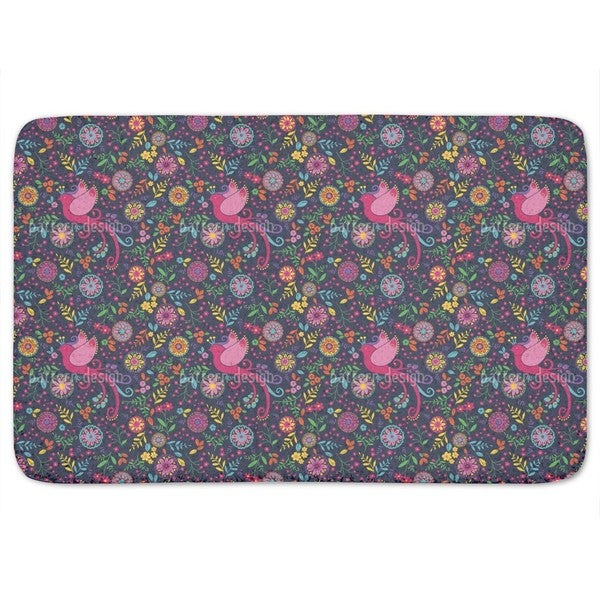 The Bird Queen Feast At Night Bath Mat