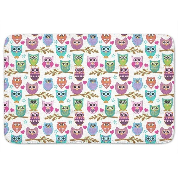 The Big Owl Assembly Bath Mat