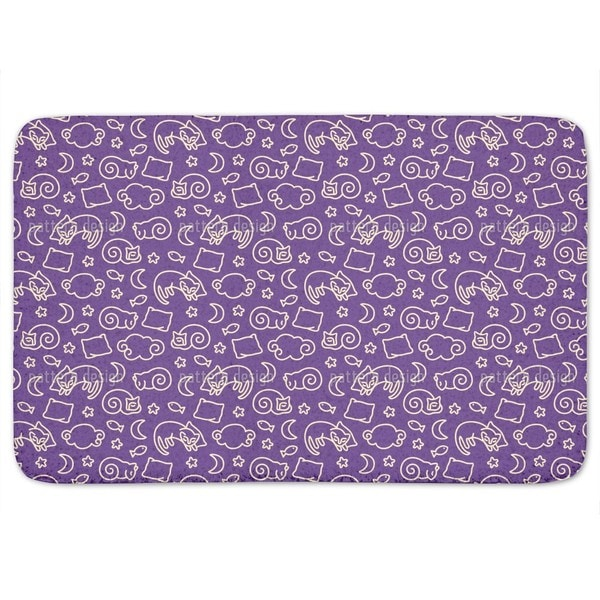 Sleepy Cats Bath Mat