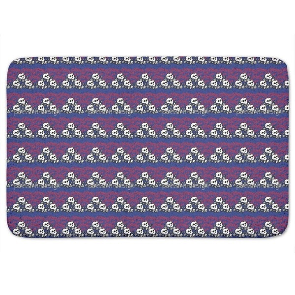 Skully Blue Bath Mat