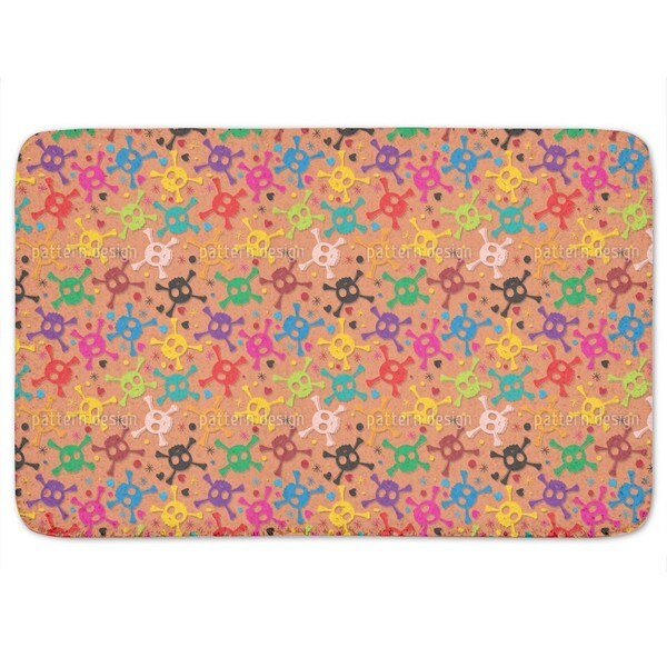 Skulls Pirate Party Bath Mat