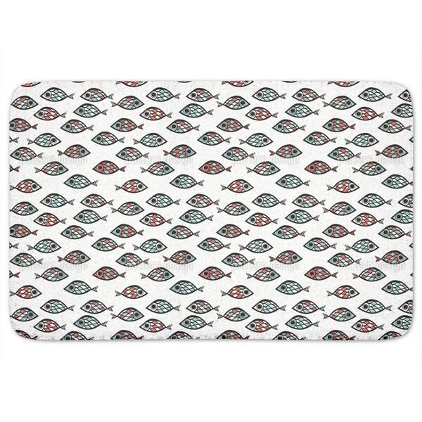 Swarm Of Fish Bath Mat