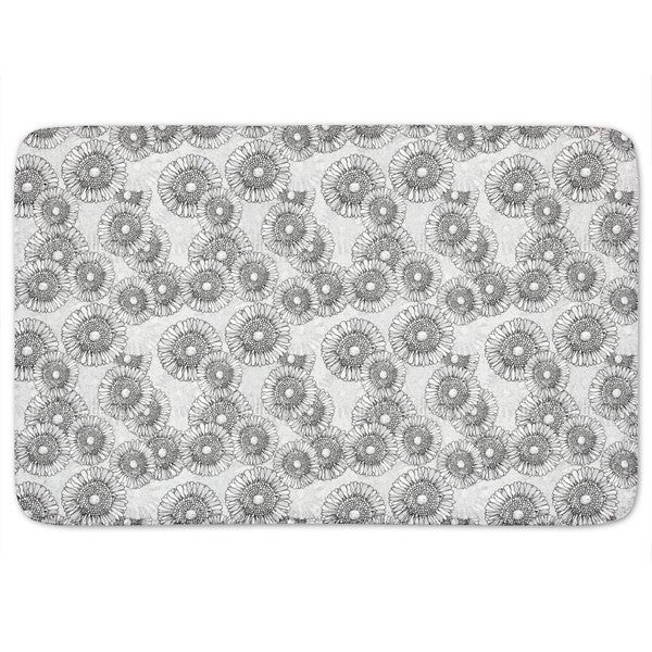 Sun Flowers Grey Bath Mat