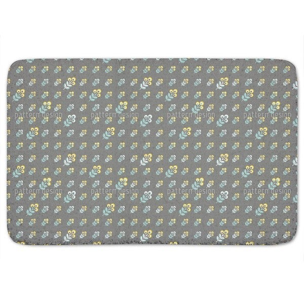 Scandinavian 70s Flowers Bath Mat
