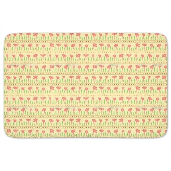 Rows Of Plants Bath Mat