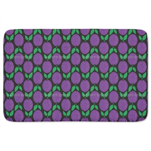 Plums Up Bath Mat
