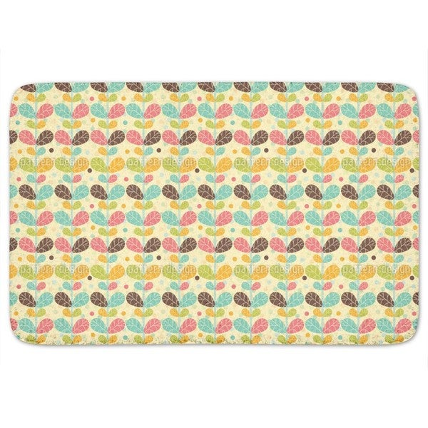 Retro Twin Leaf Bath Mat