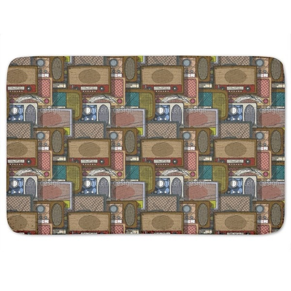 Retro Radios Bath Mat
